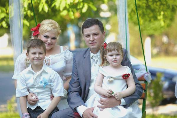Cristina Scarlat si familia
