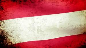 15--1474077-Austria Flag Waving, grunge look