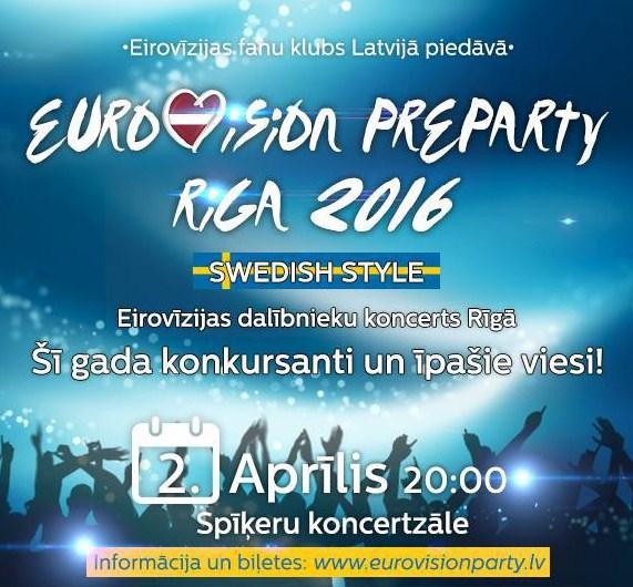 Eurovision Pre-Party Riga 2016 : compte rendu et sondage