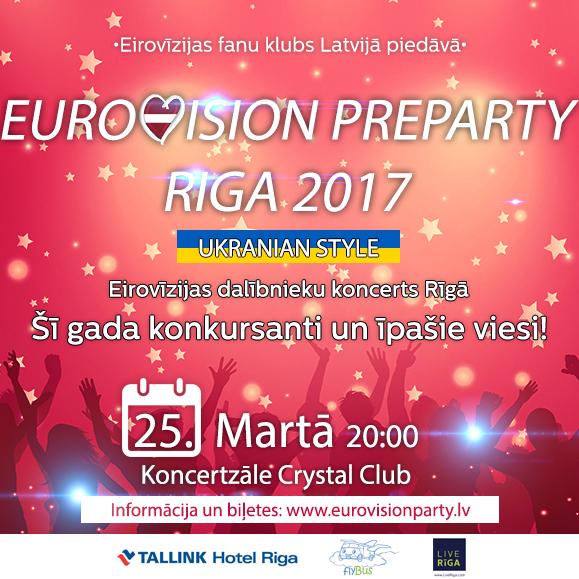 Ce soir : Eurovision PreParty à Riga