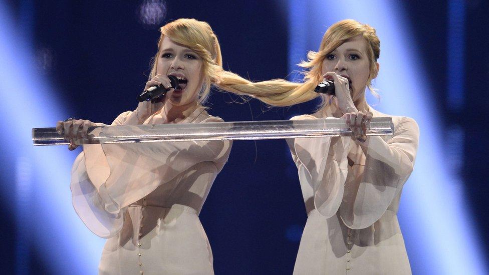 Photo des soeurs Tolmatchevy. Russie Eurovision 2014