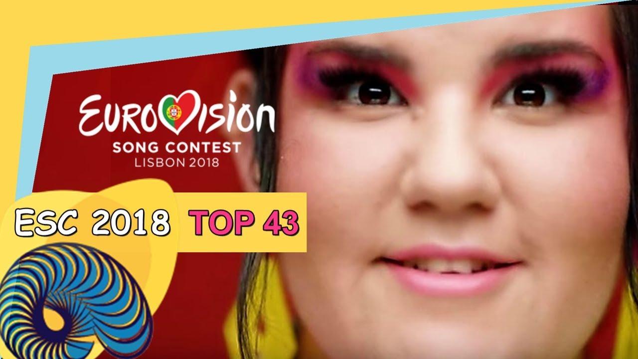 Photo ESC 2018 TOP 43 avec Netta Barzilai