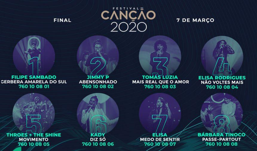 Ce soir : finale du Festival da Canção 2020 (Mise à jour : résultats)