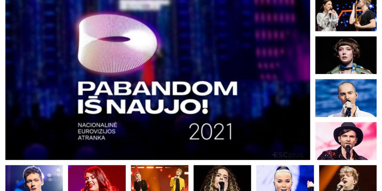 Ce soir : demi-finale de l'Eurovizijos atranka (Mise à jour : résultats et récapitulatif)