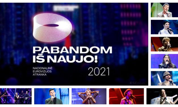 Ce soir : deuxième éliminatoire de l'Eurovizijos atranka (Mise à jour : résultats et récapitulatif)