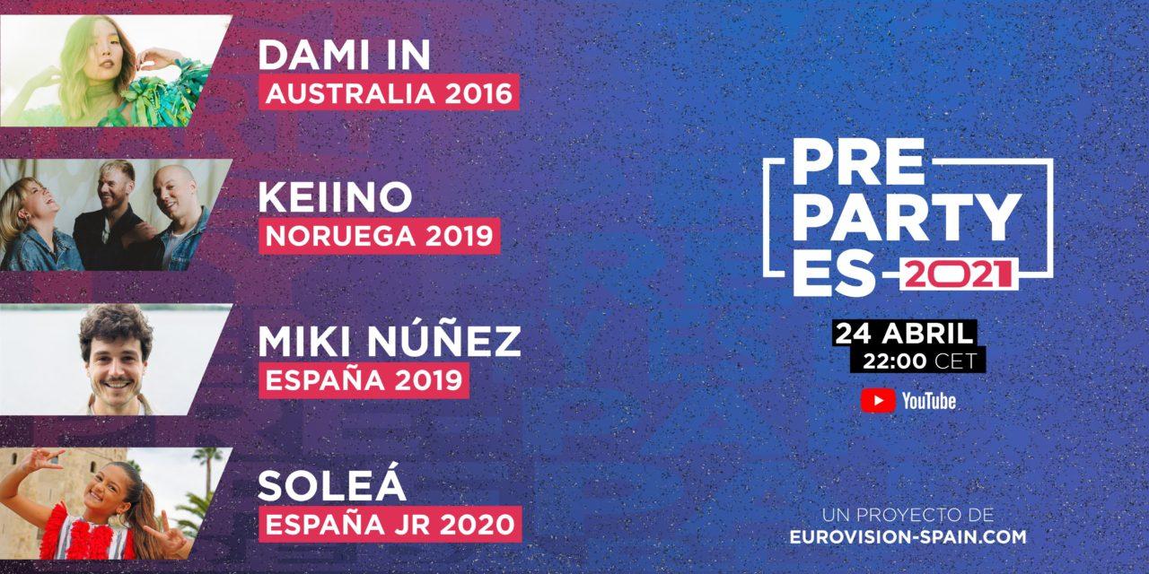 Eurovision PreParty ES – Madrid 2021 : nouveaux artistes invités