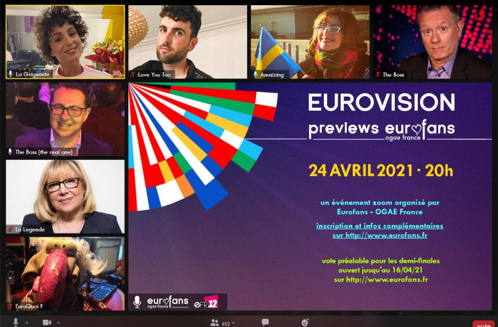 Ce soir : Previews 2021 d'OGAE France