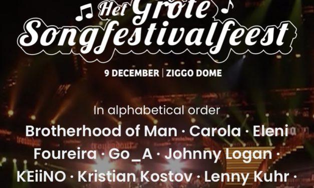 Retour du Het Grote Songfestivalfeest le 9 Décembre 2021